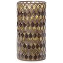 Bark & Blossom Bronze Mosaic Hurricane Glass