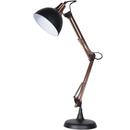 Bark & Blossom Copper and Black Desk Lamp