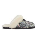 UGG Australia Womens Scuffette Liberty Sheepskin Collar Slippers  Blush Floral  UK 3.5