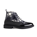 Vivienne Westwood MAN Mens Laceup Fringed Brogue Boots  Graphite BlackScribble White  UK 7