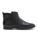 UGG Australia Womens Demi Leather Flat Ankle Boots  Black  UK 4.5