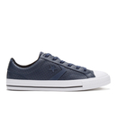 Converse Mens CONS Star Player Perforated Leather Trainers  NavyWhite  UK 8