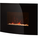 Warmlite WL45022 Curved Glass Wall Fire - Black