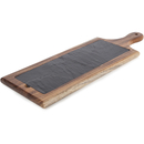 Natural Life NLAS003 Acacia Paddle Board with Slate Plate