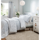 Catherine Lansfield Birds and Flowers Bedspread - Duck Egg