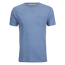 Brave Soul Men's Arkham Pocket T-Shirt - Light Blue Marl