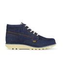 Kickers Mens Kick Hi Denim Boots  Dark Blue  UK 6.5