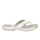 Clarks Womens Brinkley Mila Toe Post Sandals  White  UK 4