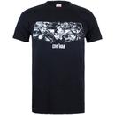 Marvel Men's Captain America Civil War Stars & Stripes T-Shirt - Black