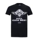 Star Wars Men's Yoda Best Dad T-Shirt - Black