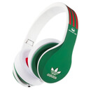 adidas Originals by Monster Headphones (3-Button Control Talk & Passive Noise Cancellation) - Green/Red/White