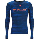 Under Armour Men's Heatgear Printed Compression Top - Blue - XXL