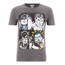 DC Comics Men's Batman Face T-Shirt - Grey