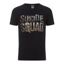 DC Comics Men's Suicide Squad Logo T-Shirt - Black