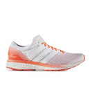 adidas Men's Adizero Boston 6 Running Shoes White-Red US 9.5-UK 9