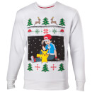 Pokémon Ash and Pikachu Christmas Jumper – S