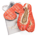 Holistic Silk Eye Mask Slipper Gift Set – Tibetan Orange – M