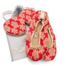 Holistic Silk Eye Mask Slipper Gift Set – Scarlet – L