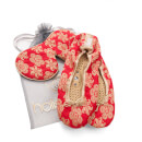 Holistic Silk Eye Mask Slipper Gift Set – Scarlet – M