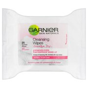 Garnier Skin Naturals Cleansing Wipes (25 Quilted Wipes)