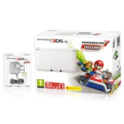 Nintendo 3DS XL White with Mario Kart 7 Preinstalled (Limited Edition)