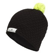 RonHill Men's Vizion Bobble Hat - Black/Fluorescent Yellow