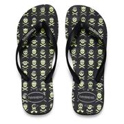 Havaianas Unisex 4 Nite Flip Flop - Black/Grey