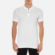 BOSS Orange Men's Pascha Slim Block Branded Polo Shirt - White