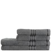 Restmor 100% Ägyptische Baumwolle 4 Stück Premium Handtuchset - Kohle