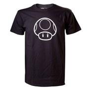 Mushroom - T-Shirt (Black/Glow in Dark)