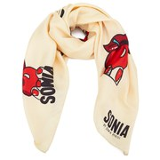 Sonia by Sonia Rykiel Women's Printed Silky Scarf - 145 Cream - One Size