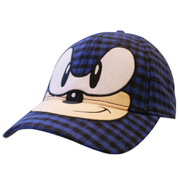 Sega Sonic The Hedgehog Face Chequred Baseball Cap