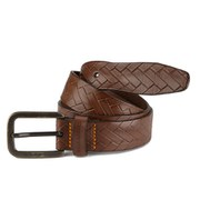 BOSS Orange Jonasio Leather Belt - Dark Brown