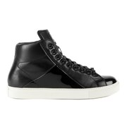 Mr Hare Men's Jack Johnson Leather Hi Top Trainers - Nero