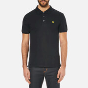 Lyle & Scott Men's Short Sleeve Plain Pique Polo Shirt - True Black
