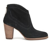 UGG Australia Women's Charlotte Suede Heeled Ankle Boots - Black