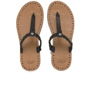 UGG Australia Women's Bria Leather Flip Flops - Black