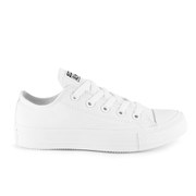 Converse Unisex Chuck Taylor All Star OX Canvas Trainers - White Monochrome