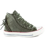 Converse Women's Chuck Taylor All Star Canvas Tri-Zip Hi-Top Trainers - Surplus Green