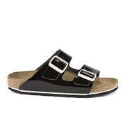 Birkenstock Women's Arizona Slim Fit Double Strap Patent Leather Sandals - Black Patent