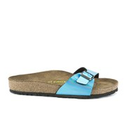 Birkenstock Women's Madrid Single Strap Metallic Sandals - Mirror Blue