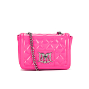 Love Moschino Women's Quilted Patent Small Cross Body Bag - Pink