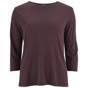 A.P.C. Women's Leo Sailor Crepe T-Shirt - Maroon