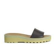 See by Chloe Women's Leather Slip-On Flat Sandals - Black