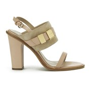 See by Chloe Women's Leather/Suede Heeled Sandals - Neutral