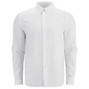 A.P.C. Men's Button-Down Oxford Long Sleeve Shirt - White