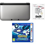 Nintendo 3DS XL Silver/Black Pokemon Alpha Sapphire Pack