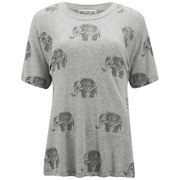 Wildfox Women's Perfect Roaming Elephant T-Shirt - Vintage Lace