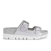 Ash Women's Takoon Double Strap Suede Sandals - Light Silver
