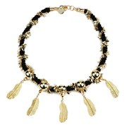 Matthew Williamson Women's Rope Feather Necklace - Gold